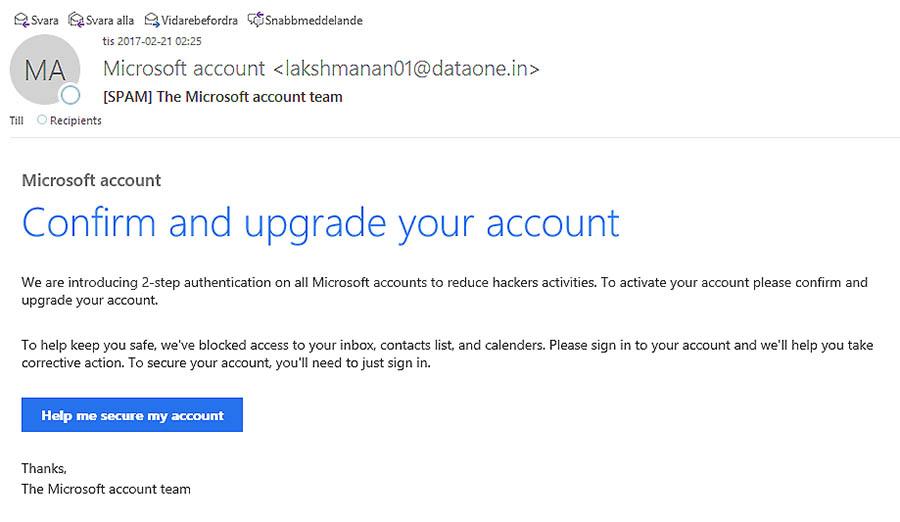 Vad vi vet är Microsoft inte lokaliserat till Indien...